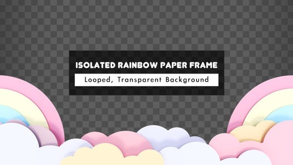 Thumbnail for Isolated Rainbow Paper Frame