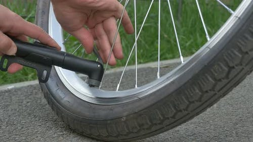 Bicycle Tyre Air Inflate