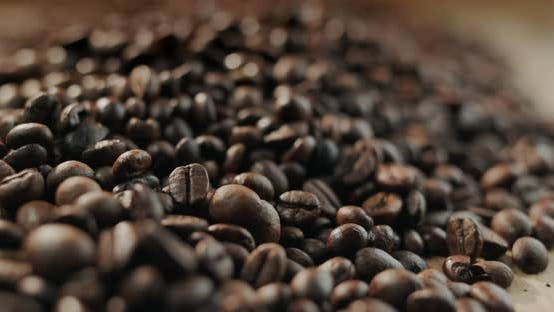 A Few Piles of Selected Roasted Coffee