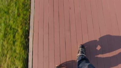 Roller Skates Top View