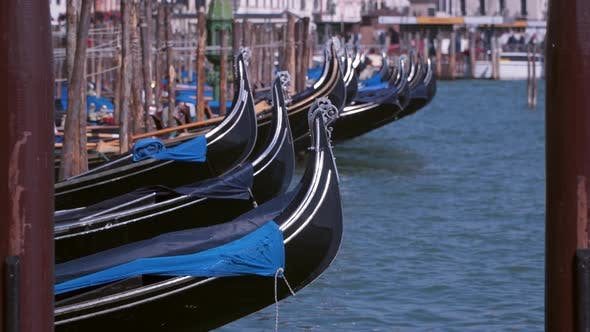 Thumbnail for Gondolas on the Pier. Venice  Italy