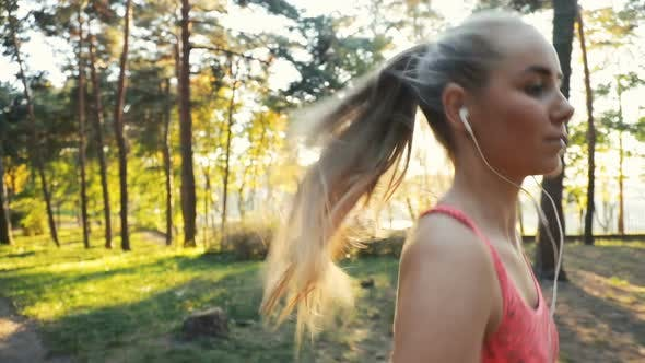 Thumbnail for Woman Goes Running in Woods