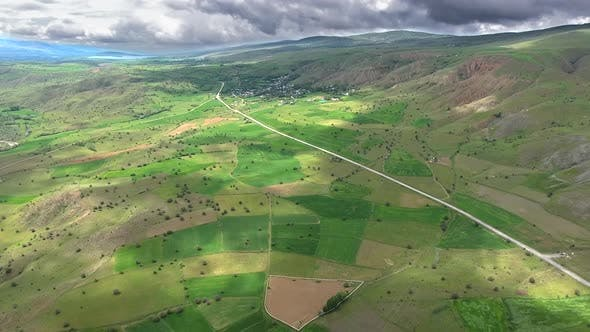 Thumbnail for Little Village Houses Surrounded by Green Fields and Low Hills in Standard Soft Geography