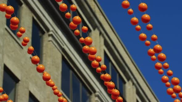 Thumbnail for Close up view of orange garlands