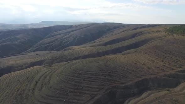 Luftaufnahme von landwirtschaftlichen Feldern