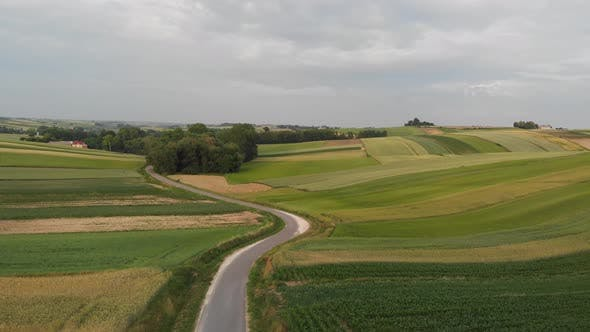 Thumbnail for Flight over agricultural field.