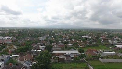 Aerial City Landscape Population Yogyakarta Indonesia