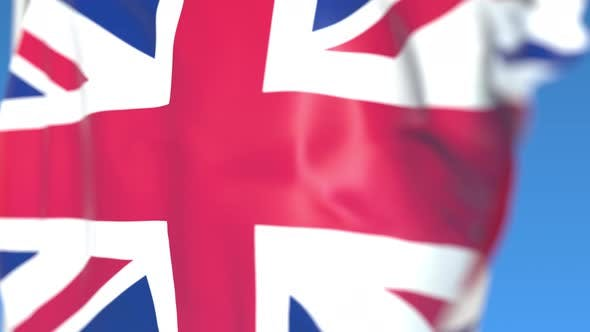 Flying Flag of the United Kingdom