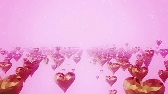 Gold Heart Bg 4k