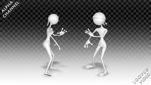 3D Man and Woman - Dance  Kung-Fu Pack