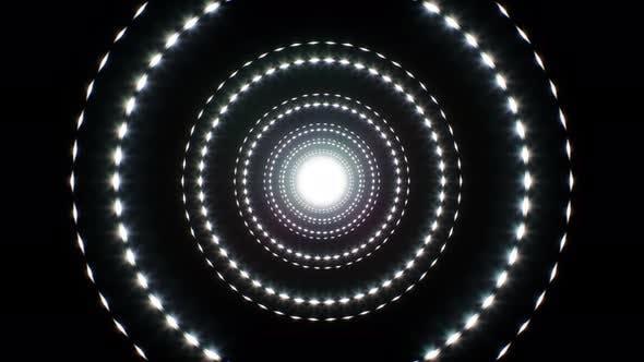 Abstrakter Kreis Licht Glitter 4K Loop 01