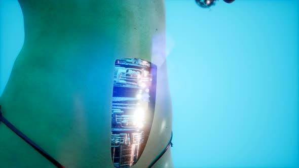 Thumbnail for Futuristic Cyborg Woman