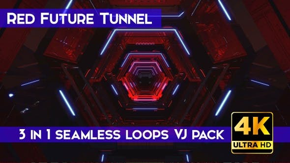 Thumbnail for Red Future Tunnel VJ Loops