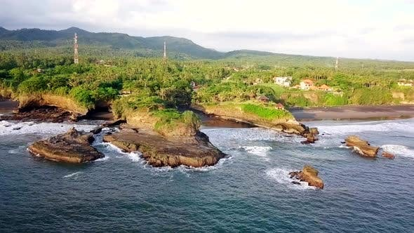Thumbnail for Scenic Aerial View of Coast of Bali