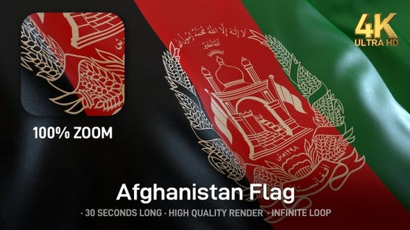 Thumbnail for Afghanistan Flag - 4K