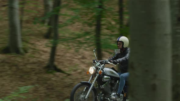 Thumbnail for Motorcycle ride on empty road