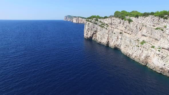 Thumbnail for Aerial view of dangerous cliffs in Mediterranean sea