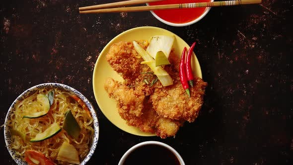 Picy Thai Deep Fried Fish Coated in Breadcrumbs