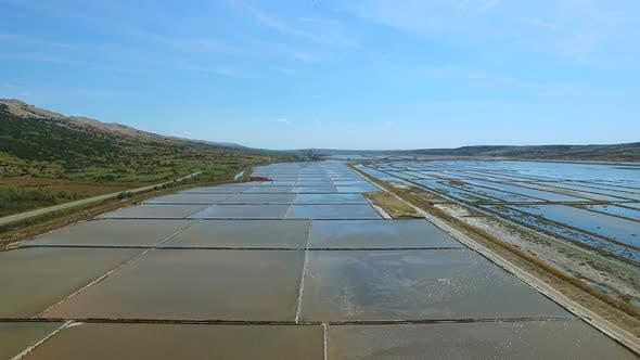 Thumbnail for Flying above salt evaporation ponds on Pag island, Croatia