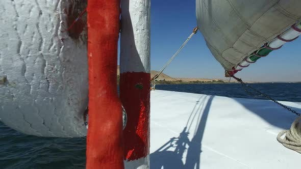 Thumbnail for View of the bow of felucca