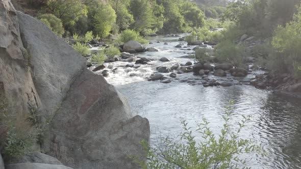 Parallax Mountain Stream Aerial Reveal 4 K