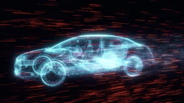 Thumbnail for Sedan Car Running With Particles Hd