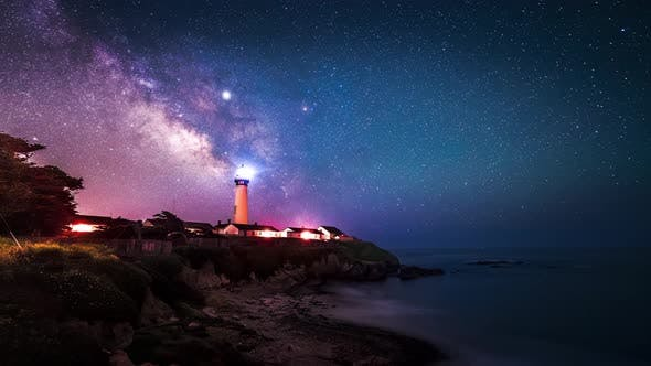 Thumbnail for The Milky Way Passing Over Pigeon Point Lighthouse In Pescadero, California, USA