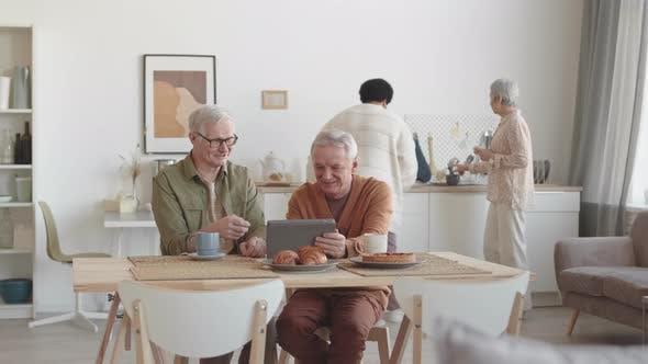 Senior People Enjoying Time Together
