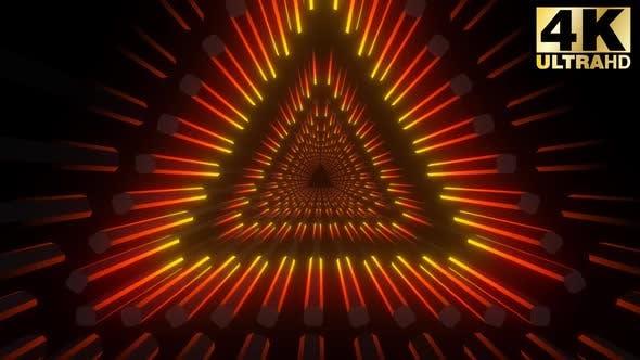 Thumbnail for 4k Triangular Neon Tunnels Pack
