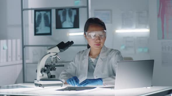 Thumbnail for Asian Woman Working In Laboratory