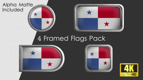 Framed Panama Flag Pack