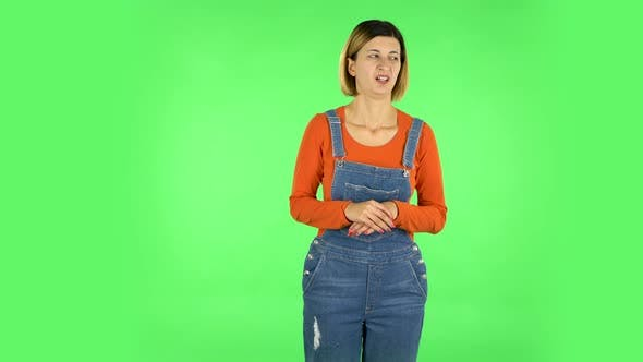 Thumbnail for Woman Showing Disgust for Bad Smell or Taste. Green Screen