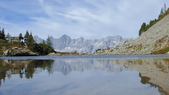 Lake Spiegelsee with Reflections of Dachstein