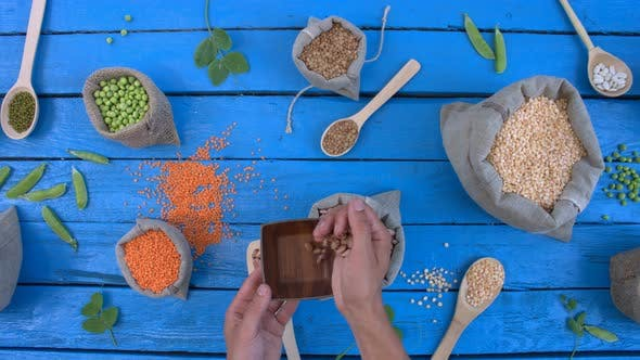Thumbnail for Legumes on Wooden Ecological Background.