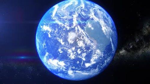 Realistische Erde Zoom Korea