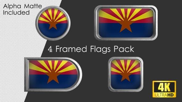 Thumbnail for Arizona State Flag Framed