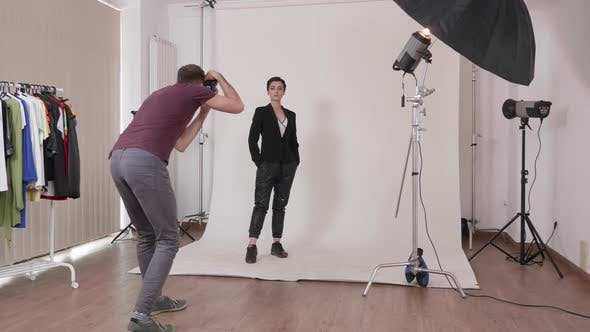 Thumbnail for Photographer Taking Pictures of a Professional Model