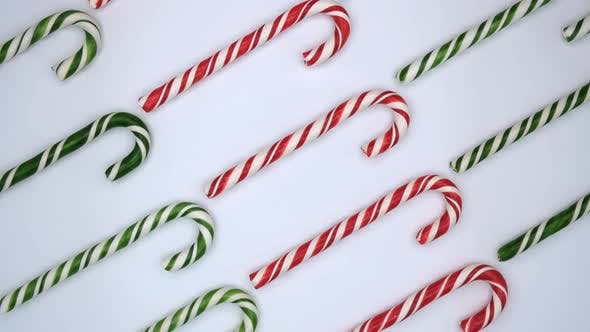 Candy cane caramels. Xmas sweet background. Merry Christmas and happy new year concept