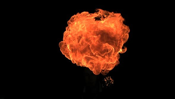 Thumbnail for Small fireball moving in slow-motion