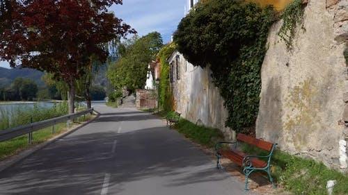 POV Bicycle in Durnstein, Austria