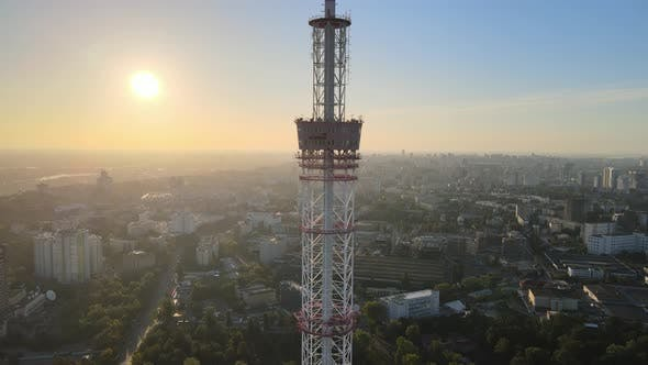 Thumbnail for TV Tower in the Morning at Dawn in Kyiv, Ukraine