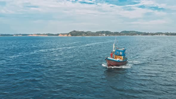 Thumbnail for Small Lonely Thai Fishboat