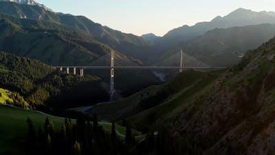 The bridge between the mountains