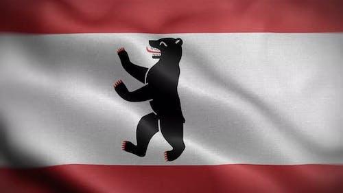 Berlin Germany Flag Loop Background 4K