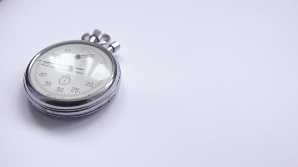 Thumbnail for Clock in the Accelerated Shooting With a White Background