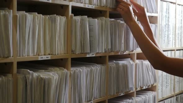 Paper Files with Notes in Clinic