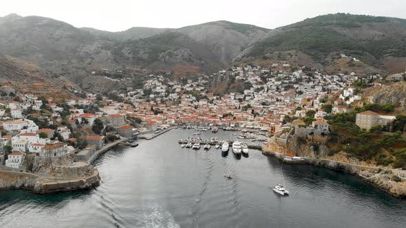 Thumbnail for Aerial Shot of Town in the Sea