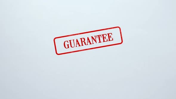 Thumbnail for Guarantee Seal Stamped on Blank Paper Background, Customer Service Quality