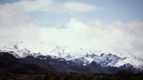 Thumbnail for Clouds over Volcano in the Andes Mountains.