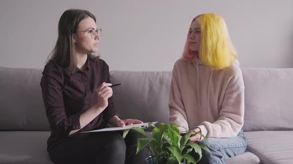 Thumbnail for Woman Psychologist Working with Teen Girl